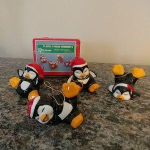 Other - Vintage Playful Penguin Ornaments